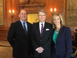 Paul Roberts, Dr. Kane and Vicki Wilbers.