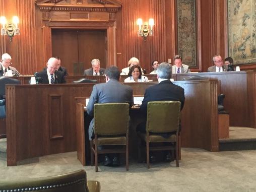 Senator Libla presents Dr. Kane to the Committee.