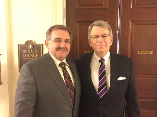 Dr. Kane with Senator Doug Libla.