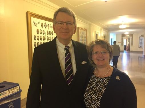 Dr. Kane with Representative Tila Rowland.